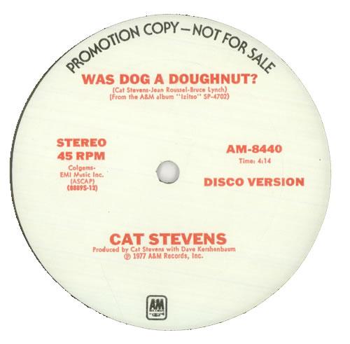 "Cat Stevens Was Dog A Doughnut ? 12"" vinyl single (12 inch record / Maxi-single) US CTV12WA454391"