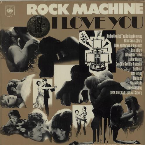 CBS Records Rock Machine I Love You - stickered p/s vinyl LP album (LP record) UK I1ULPRO302454