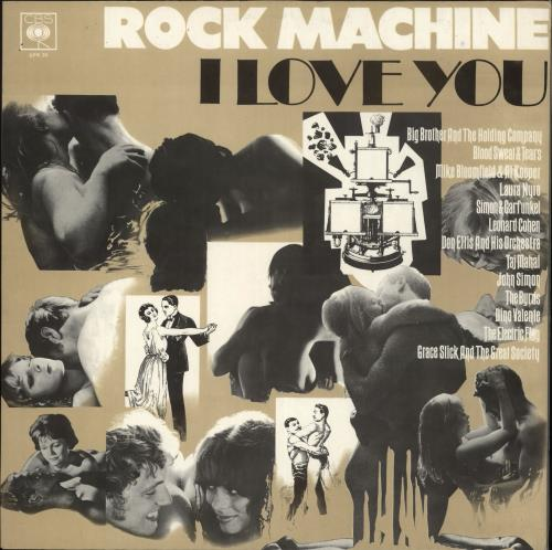 CBS Records Rock Machine I Love You vinyl LP album (LP record) UK I1ULPRO715907