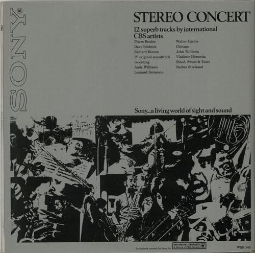 CBS Records Stereo Concert vinyl LP album (LP record) UK I1ULPST640569