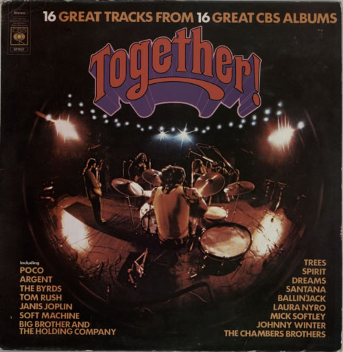 CBS Records Together - Blue Vinyl vinyl LP album (LP record) UK I1ULPTO589103