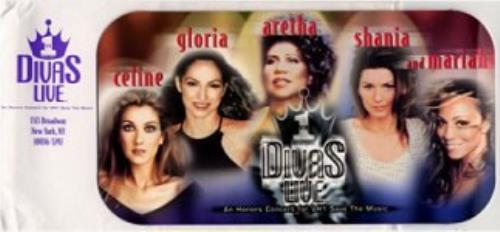 Celine Dion Divas Live Vip Tickets Us Promo Memorabilia 156547