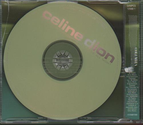 "Celine Dion I Drove All Night CD single (CD5 / 5"") European CELC5ID235381"