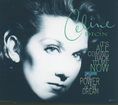 """Celine Dion It's All Coming Back To Me Now CD single (CD5 / 5"""") UK CELC5IT115732"""
