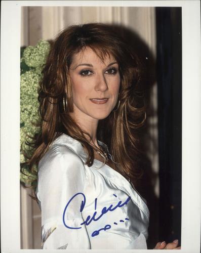 Celine Dion Signed Photograph photograph UK CELPHSI726527