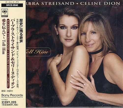 "Celine Dion Tell Him CD single (CD5 / 5"") Japanese CELC5TE135994"