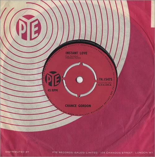 "Chance Gordon Instant Love 7"" vinyl single (7 inch record) UK 7CG07IN485119"