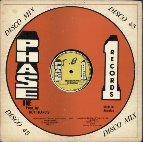 "Chantells Waiting In The Park 12"" vinyl single (12 inch record / Maxi-single) Jamaican QHA12WA716522"