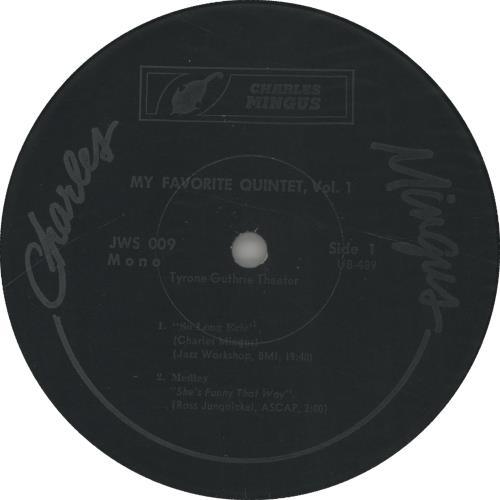 Charles Mingus My Favorite Quintet vinyl LP album (LP record) US CA8LPMY651729