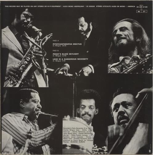 Charles Mingus Pithycanthropus Erectus vinyl LP album (LP record) French CA8LPPI532970
