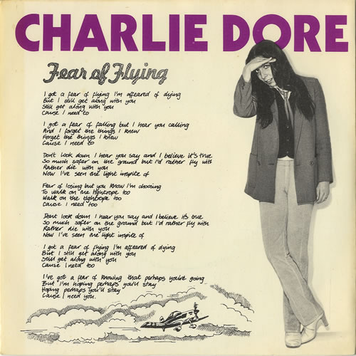 "Charlie Dore Fear Of Flying 7"" vinyl single (7 inch record) UK HDR07FE449895"