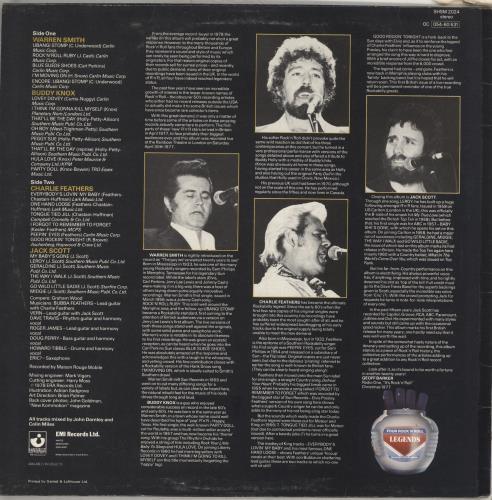 Charlie Feathers Four Rock 'N' Roll Legends vinyl LP album (LP record) UK 8CFLPFO712366