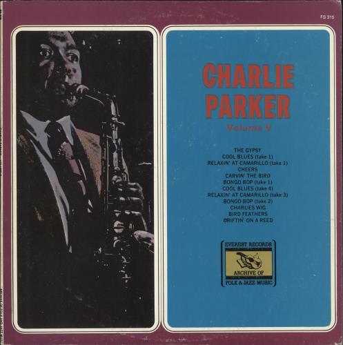 Charlie Parker Volume V vinyl LP album (LP record) US CIKLPVO723577