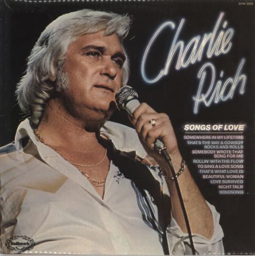Charlie Rich Songs Of Love vinyl LP album (LP record) UK CB3LPSO731031