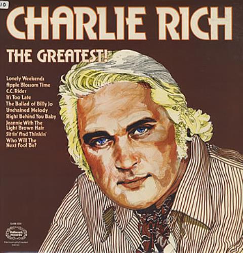 Charlie Rich The Greatest! vinyl LP album (LP record) UK CB3LPTH314376