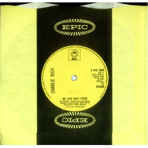 """Charlie Rich We Love Each Other 7"""" vinyl single (7 inch record) UK CB307WE420873"""