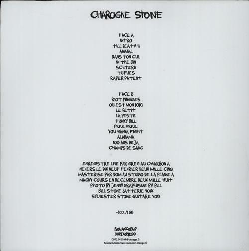 Charogne Stone Live 2005 vinyl LP album (LP record) French FYVLPLI607065