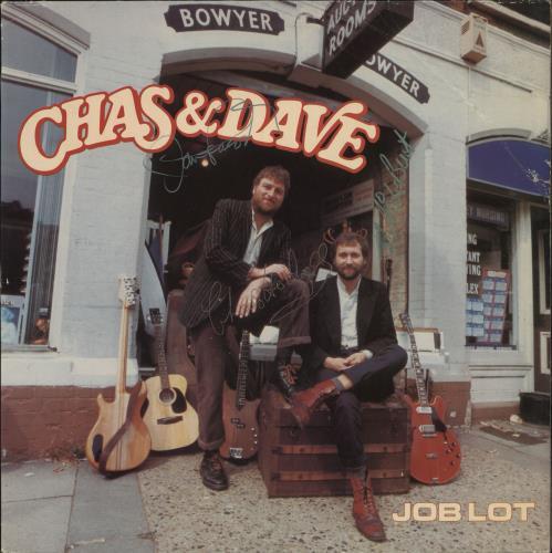 Chas & Dave Job Lot - Autographed vinyl LP album (LP record) UK C+DLPJO727550