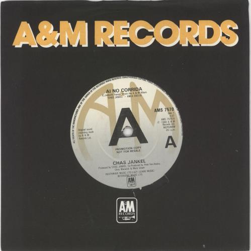 "Chas Jankel Ai No Corrida 7"" vinyl single (7 inch record) UK CF307AI730998"