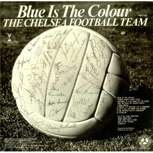 Chelsea FC Blue Is The Colour vinyl LP album (LP record) UK CFCLPBL422714