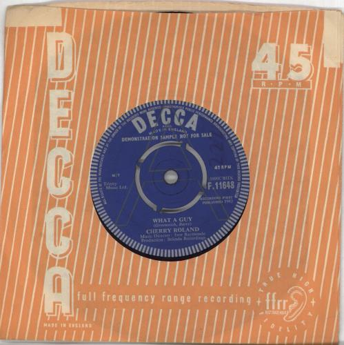 """Cherry Roland What A Guy 7"""" vinyl single (7 inch record) UK Q5E07WH707921"""