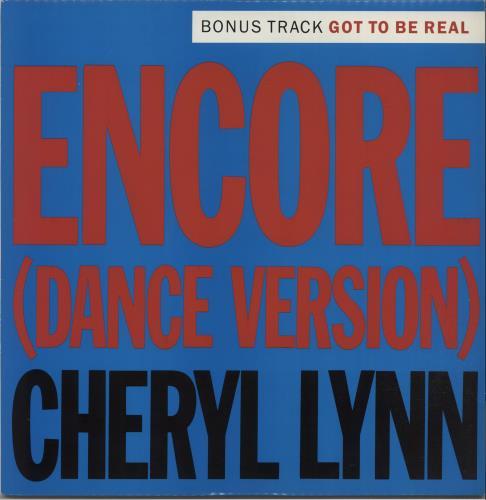 "Cheryl Lynn Encore 12"" vinyl single (12 inch record / Maxi-single) UK LN212EN660005"
