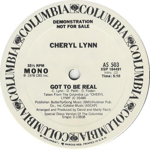 "Cheryl Lynn Got To Be Real 12"" vinyl single (12 inch record / Maxi-single) US LN212GO402494"