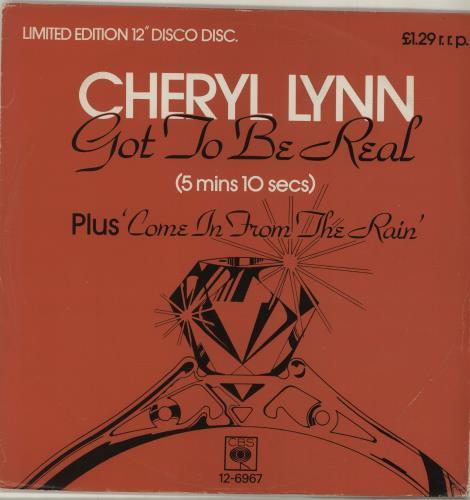 "Cheryl Lynn Got To Be Real 12"" vinyl single (12 inch record / Maxi-single) UK LN212GO687175"