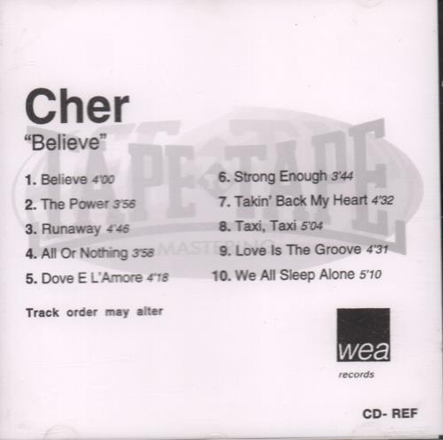 Cher Believe CD-R acetate UK CHECRBE123347
