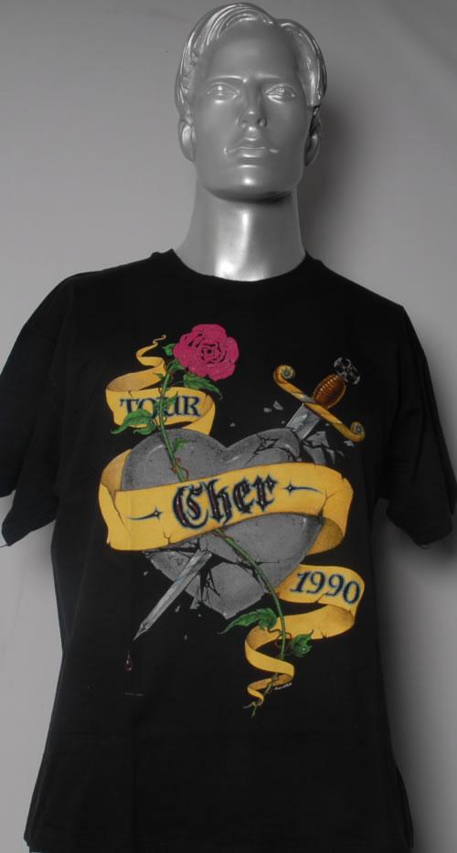 Cher Heart Of Stone Tour 1990 t-shirt UK CHETSHE593638