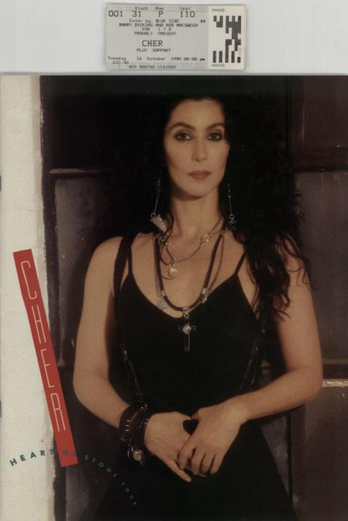 Cher Heart Of Stone Tour Programme + Ticket Stub tour programme UK CHETRHE596775