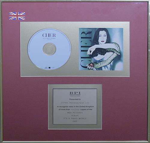 Cher It's A Man's World - BPI Gold award disc UK CHEAWIT534228