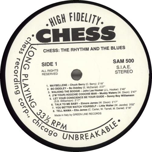 Chess Records The Rhythm And The Blues - Stickered vinyl LP album (LP record) Italian EKGLPTH696179