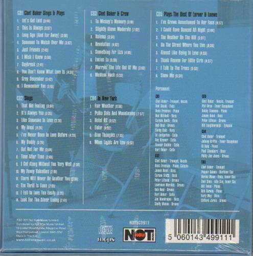 Chet Baker Blue Thoughts - Sealed Box 5-CD album set UK 6CB5CBL673532