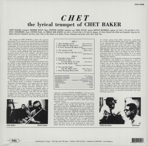 Chet Baker Chet - 180gm Yellow Vinyl vinyl LP album (LP record) UK 6CBLPCH664844