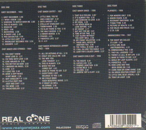Chet Baker Eight Classic Albums - Sealed 4-CD album set UK 6CB4CEI661516