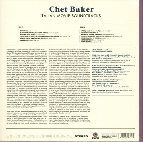 Chet Baker Italian Movie Soundtracks - Purple Vinyl - Sealed vinyl LP album (LP record) UK 6CBLPIT739656