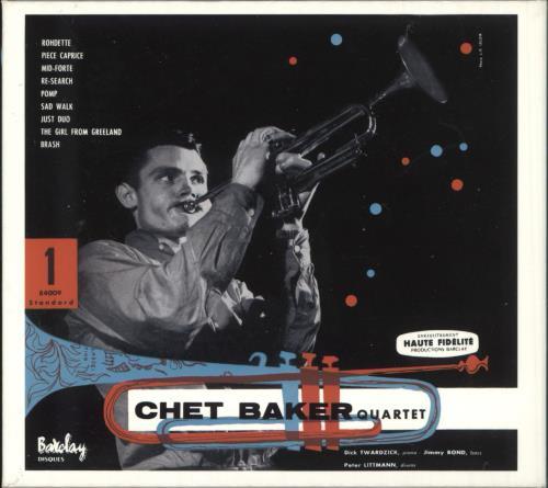 Chet Baker Quartet Featuring Dick Twardzik CD album (CDLP) French 6CBCDQU737323