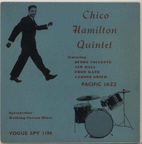 """Chico Hamilton Chico Hamilton Quartet EP 7"""" vinyl single (7 inch record) UK CH707CH687908"""