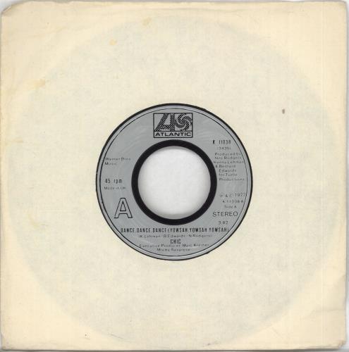 """Chic Dance, Dance, Dance (Yowsah, Yowsah,Yowsah) - Injection - wide 7"""" vinyl single (7 inch record) UK CHC07DA698516"""