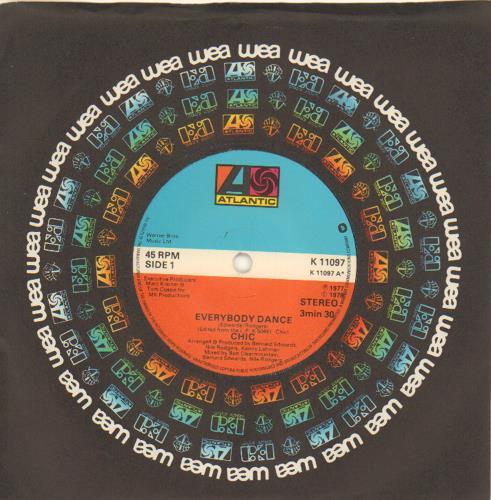 "Chic Everybody Dance 7"" vinyl single (7 inch record) UK CHC07EV573921"