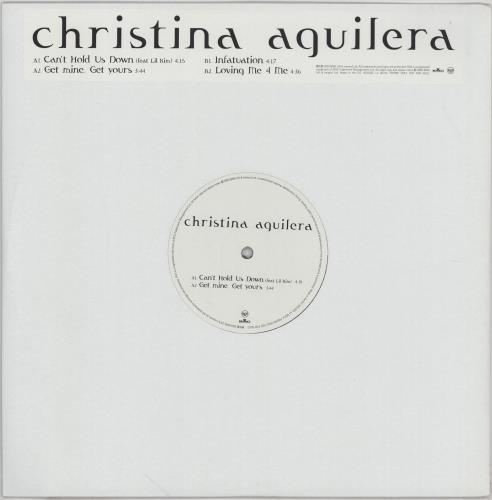 "Christina Aguilera Can't Hold Us Down Sampler 12"" vinyl single (12 inch record / Maxi-single) UK AAG12CA256002"