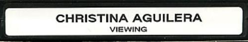 Christina Aguilera My Reflection video (VHS or PAL or NTSC) UK AAGVIMY200994