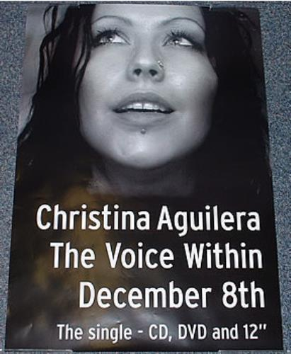 Christina Aguilera The Voice Within poster UK AAGPOTH269632