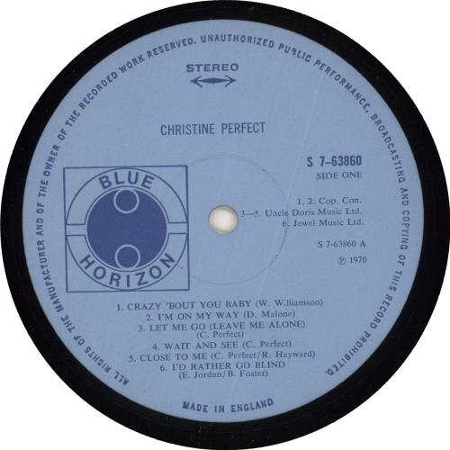 Christine Perfect Christine Perfect - EX vinyl LP album (LP record) UK PFTLPCH726182