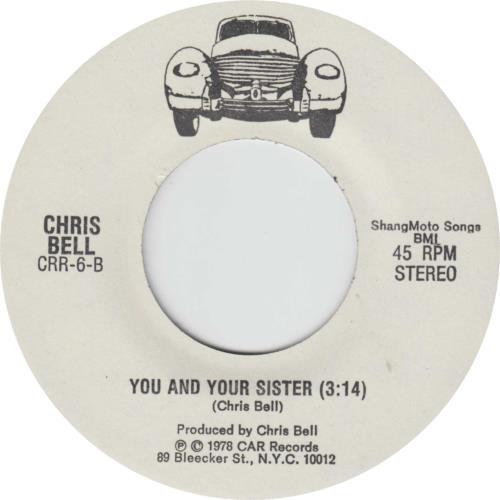 "Chris Bell I Am The Cosmos 7"" vinyl single (7 inch record) US CBL07IA387014"
