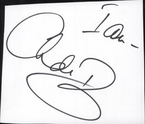 Chris De Burgh Autograph memorabilia UK BURMMAU734956