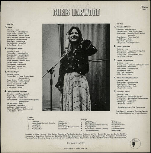 Chris Harwood Nice To Meet Miss Christine vinyl LP album (LP record) UK H8VLPNI642802