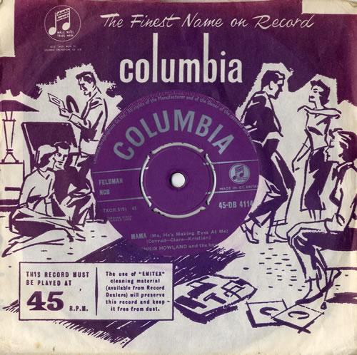 "Chris Howland Mama (He's Making Eyes At Me) 7"" vinyl single (7 inch record) UK C5-07MA546686"