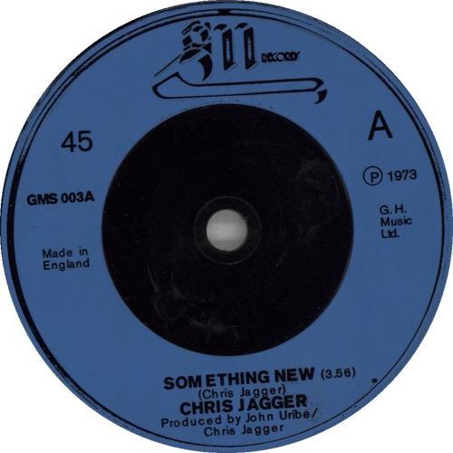 "Chris Jagger Something New 7"" vinyl single (7 inch record) UK CHJ07SO662671"